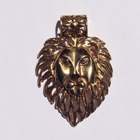Jewelry Fashion Large Lions Head Slider Pendant Poshmark